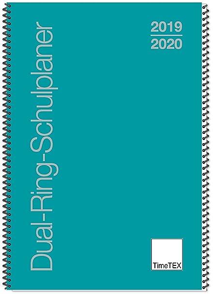 TimeTex 10555 - Agenda escolar de doble anillo, A5, curso 2019 ...