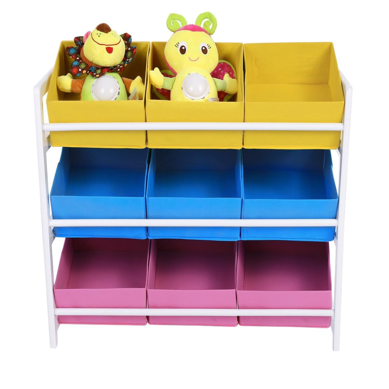 Fanala Kids Toys Accessories Bin Cart Rack Organizer Childrens Book Storage Box Playroom Bedroom Shelf Drawer, US Stock