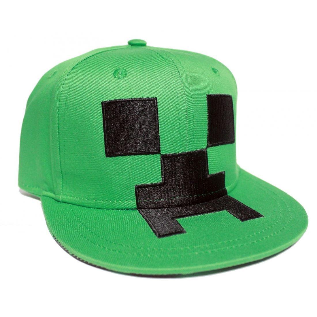 Minecraft Snapback Cap Creeper Basecap Baumwolle grün Elbenwald 1610