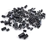 Aluminium Electrolytic Capacitor Kit 25 Values Total 1uF to 2200uF for TV, VCD, Chargers, Adapters, Electronic Toys (125pcs)