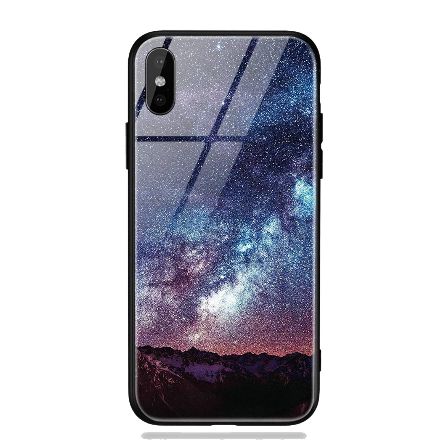 Amazon.com: Glass Phone Case for iPhone X 7 8 10 6 s XS Star ...