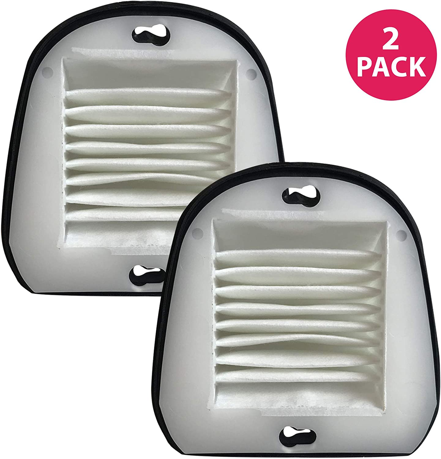 Crucial Vacuum Filter Replacement - Compatible with Black & Decker Part # 48G7, 2031473 203-1473 and Black & Decker VF20 Filter Fits Dustbuster - Washable, Reusable, Lightweight Filters (2 Pack)