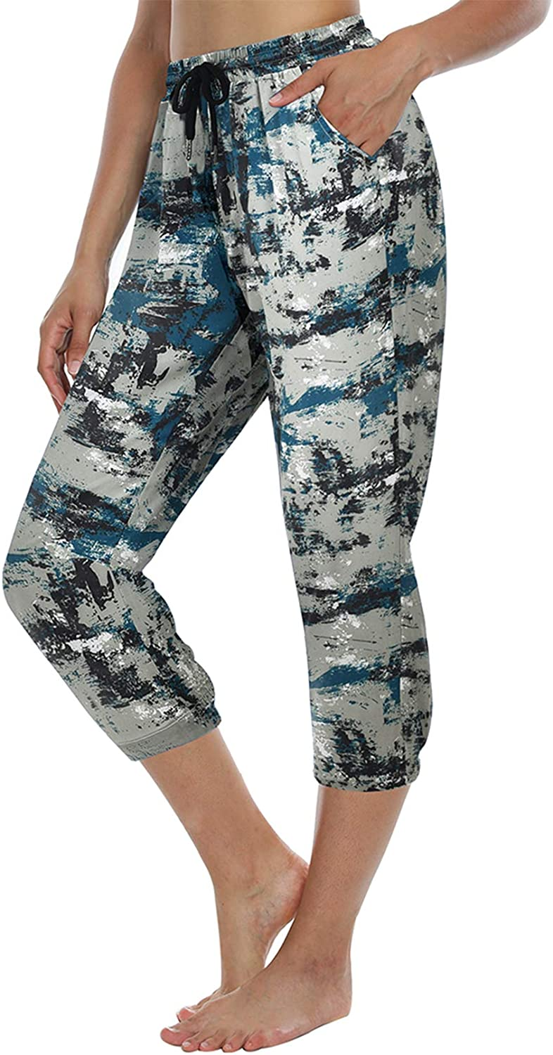 ChinFun Women Hiking Capri UPF 50+ Water Resistant Outdoor Workout Cropped Pants