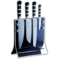 "Friedr. Dick 4-Piece 1905 Knife Block Includes 8"" Chef's Knife, 7"" Santoku Knife, 8"" Slicer and 3"" Paring Knife"