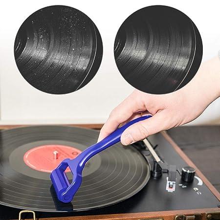 kwmobile Rodillo de Limpieza para Disco de Vinilo CD DVD BLU-Ray - Limpiador de vinilos - Cepillo con Rodillo de 16 x 6.4 CM para Discos de Vinilo