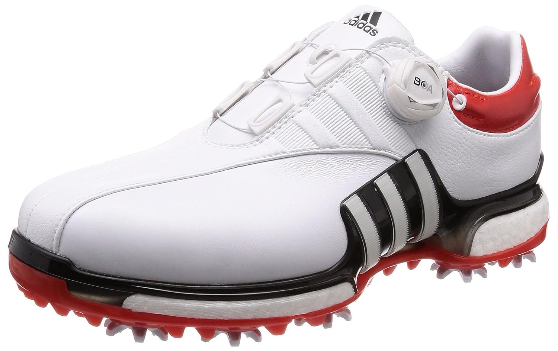 [アディダスゴルフ] ゴルフシューズ ツアー360 EQT ボア メンズ ホワイト/コアブラック/ハイレスレッド 27.5 cm
