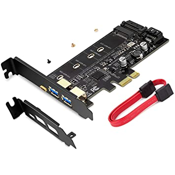 Tarjeta PCI-E a USB 3.0 PCI Express Incluye 1 Puerto USB C y 2 Puertos USB A, para Agregar Dispositivos SSD SATA III M.2 a la PC o la Placa Base ...