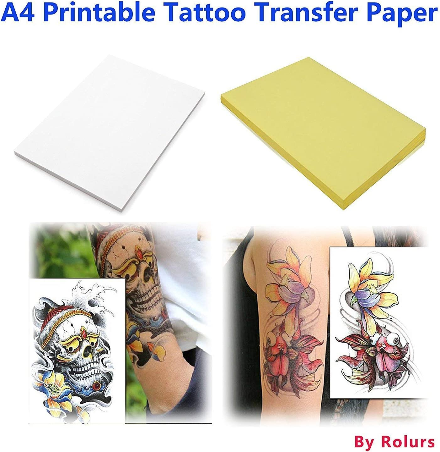 35 Sheets Stencil Paper Copy Paper Tracing Paper with 4 Layers Qulable Approx Tattoo Transfer Paper A4 Size