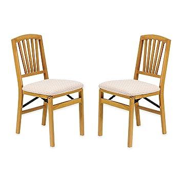 amazon com traditional styling decorative slat back folding chair