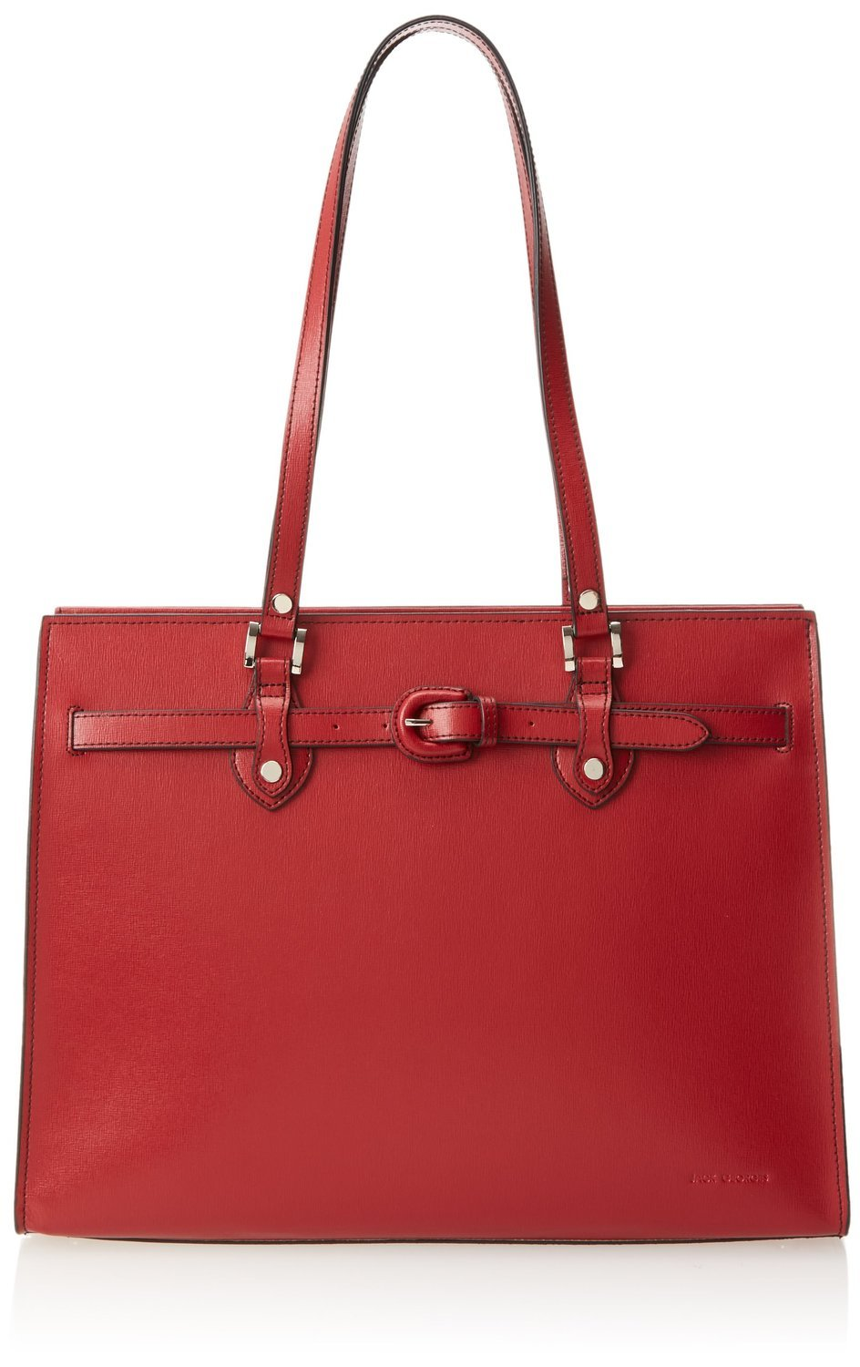 Jack Georges Womens [Personalized Initials Embossing] Chelsea Alexis Business Tote in Red