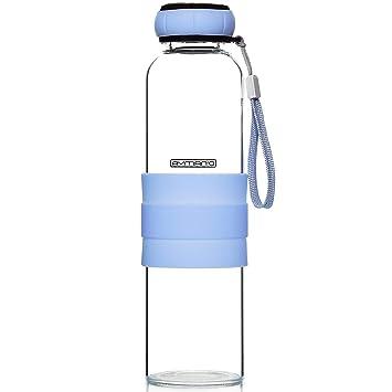 Ayman o Botella de Vidrio, Botella de 550 ML, Funda de Silicona,