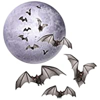 Beistle 4 Pc Halloween Moon & Bats Cutouts Party Decorations Deals