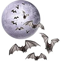 4 Piece Beistle Halloween Moon & Bats Cutouts Party Decorations 3 sets