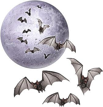 4 Piece Beistle Halloween Moon & Bats Cutouts Party Decorations