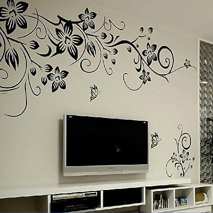 Amovible stickers muraux fleurs mur etiquette mur mural maison decor chambre decor enfants hg 0275