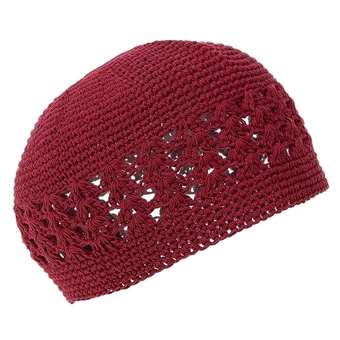 cfbe0345176a6e 3rd Power Outlet Knit Kufi Hat - Koopy Cap - Crochet Beanie (Burgundy)