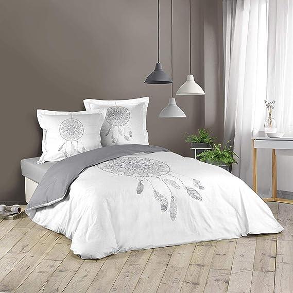 Douceur d'intérieur 1642369 Reveline - Juego de Cama (algodón, 240 x 220 cm), Multicolor