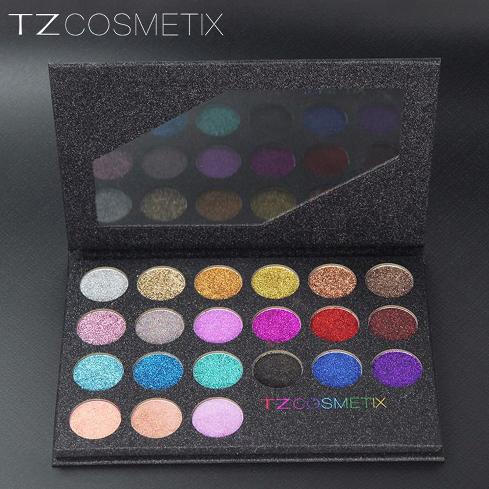 Zantec 21 colori glitter eyeshadow palette set di ombretti waterproof di lunga durata waterproof
