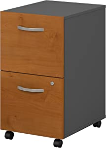 Bush Business Furniture Series C 2 Drawer Mobile File Cabinet in Natural Cherry