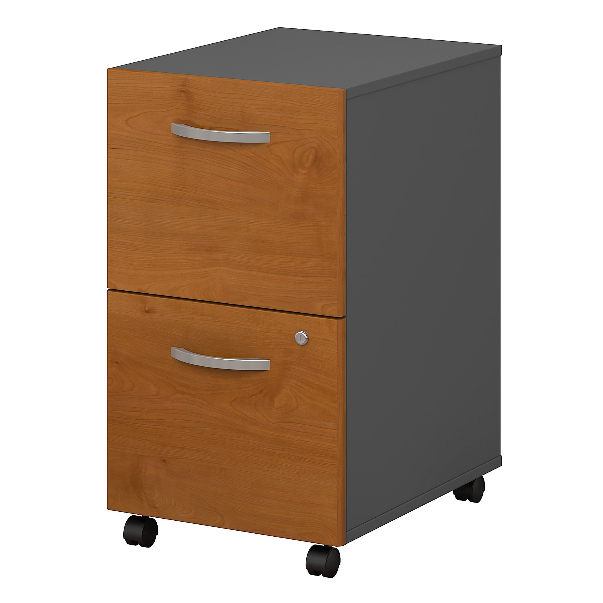 Bush Business Furniture Series C 2 Drawer Mobile File Cabinet in Natural Cherry by Bush Business Furniture