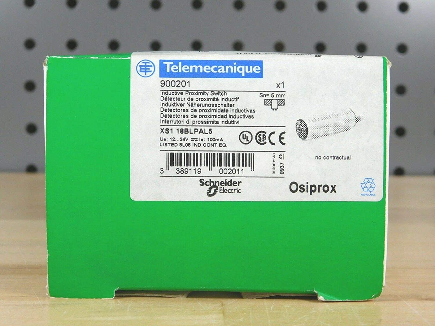 Brand New - Telemecanique 900201 XS1 18BLPAL5 Inductive Proximity Sensor Switch: Amazon.com: Industrial & Scientific