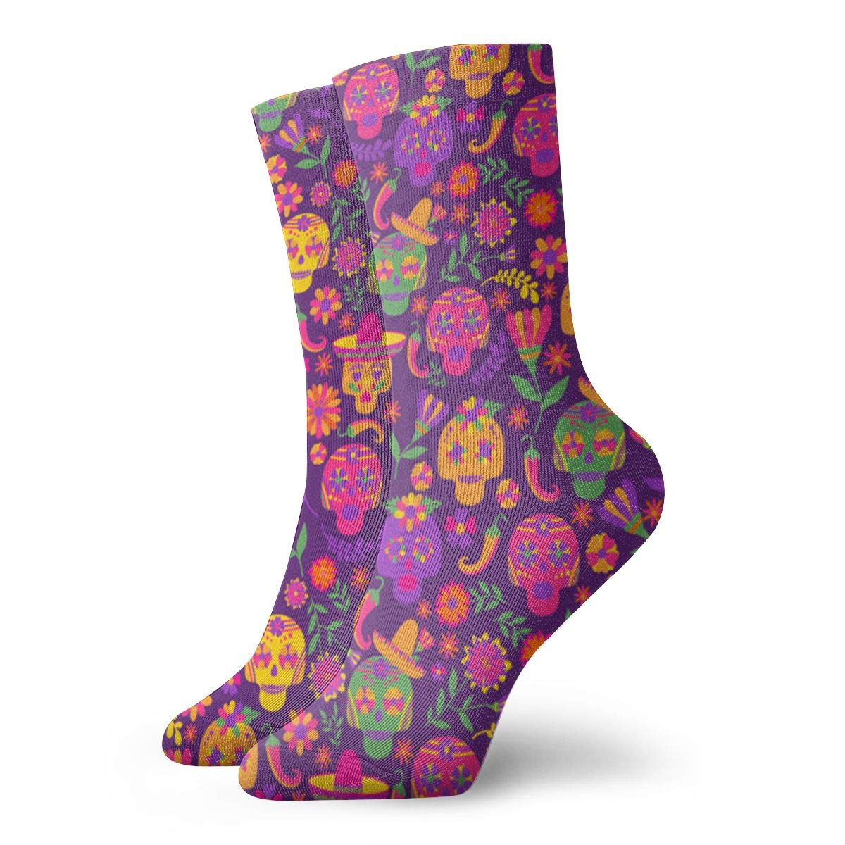 Dia-de-los-muertos Unisex Funny Casual Crew Socks Athletic Socks For Boys Girls Kids Teenagers