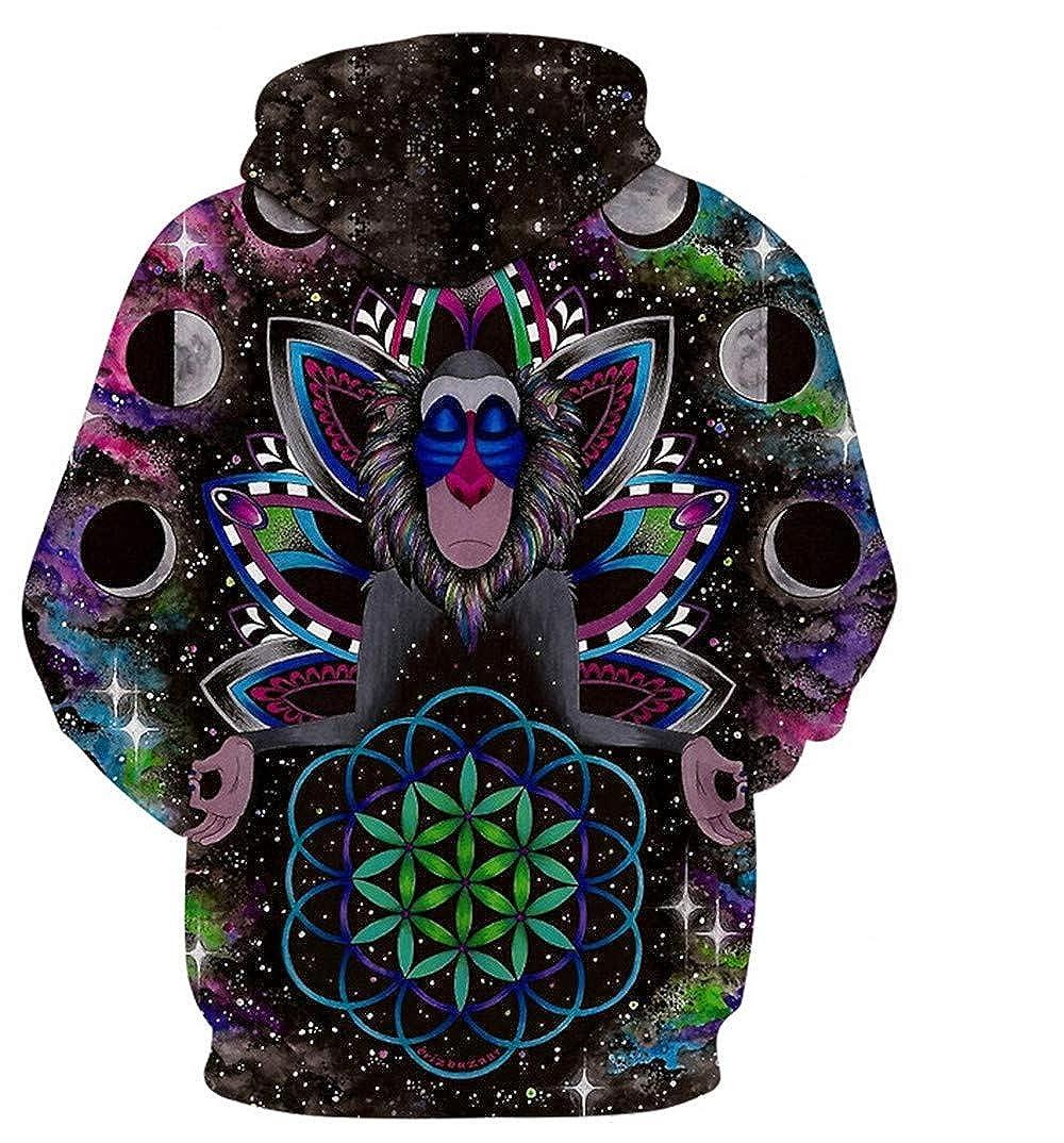Hoodies Ywfzzxs 3D Hoodies Hd Digital Printed Sweatshirts Long Sleeve Big Pockets Pullover Unisex Wizard