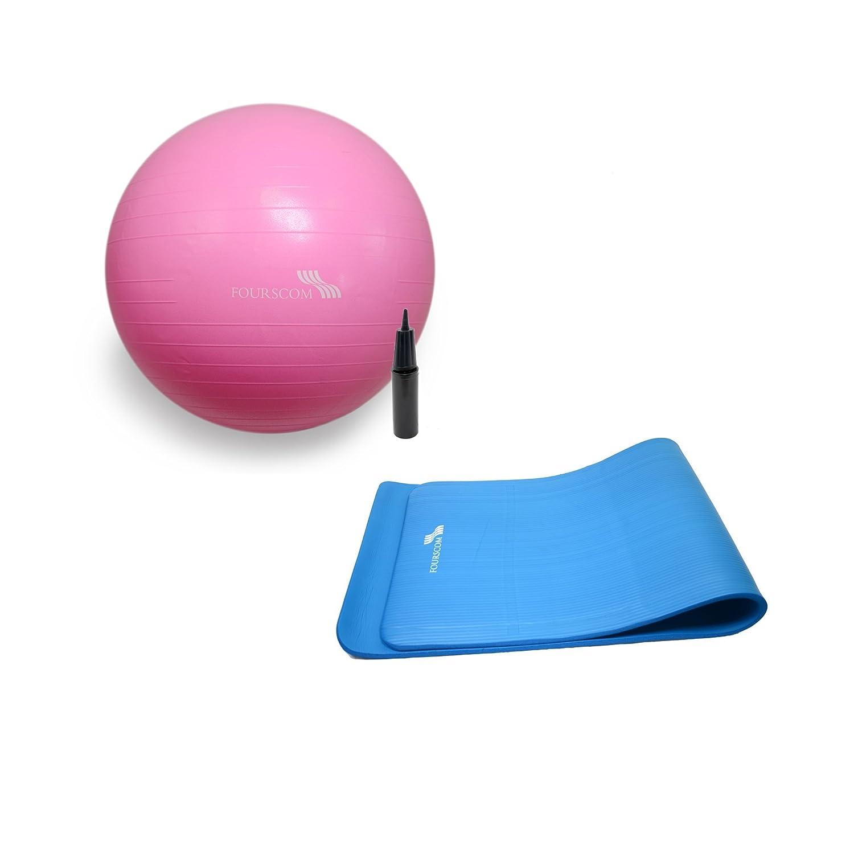 fourscom® Yoga Fitness Set: Yoga Pilates Esterilla NBR 190 x ...