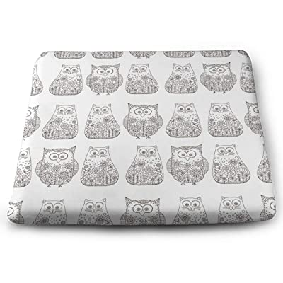 Tinmun Square Cushion, Doodle Cats Owls Bird Kitten Large Pouf Floor Pillow Cushion for Home Decor Garden Party: Home & Kitchen
