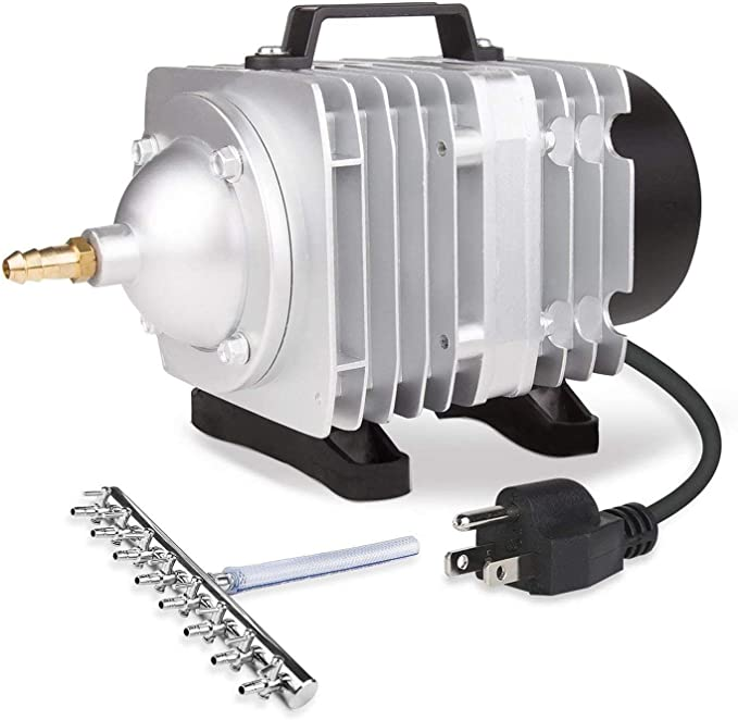 Amazon.com: VIVOSUN Air Pump 1110 GPH 8 Outlet 50W 70L/min Commercial Air Pump for Aquarium and Hydroponic Systems (50 W): Sports & Outdoors