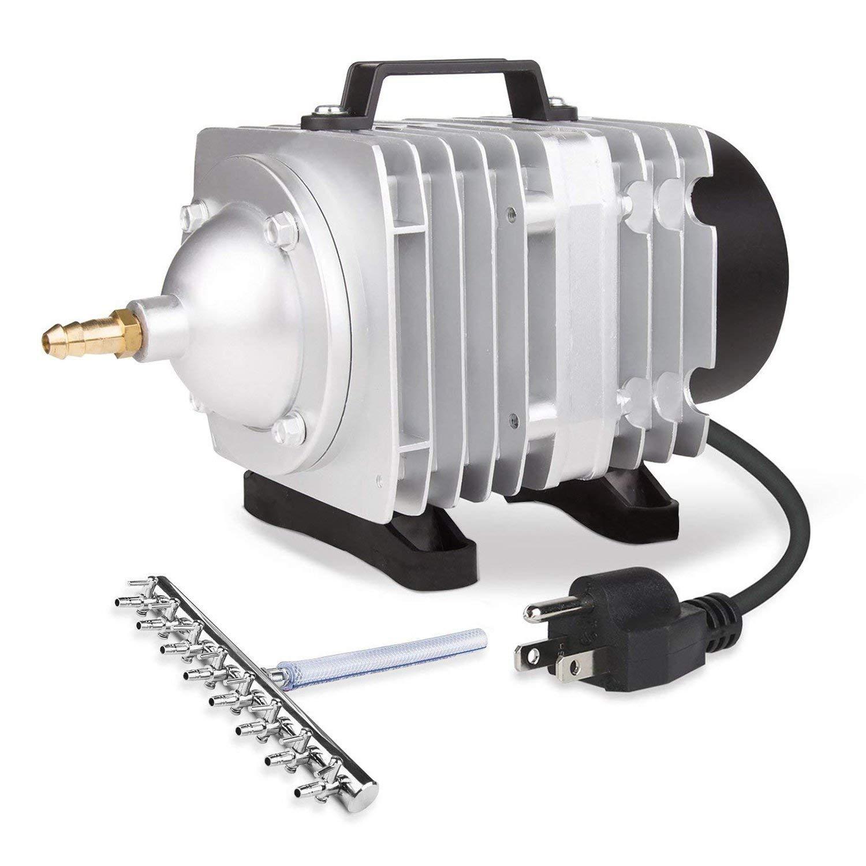VIVOSUN Air Pump 1110 GPH 8 Outlet 50W 70L/min Commercial Air Pump for Aquarium and Hydroponic Systems (50 W) by VIVOSUN
