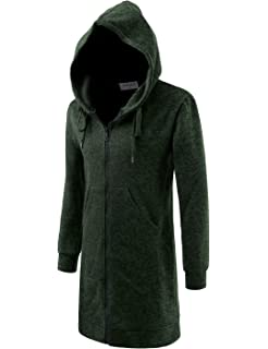 3c6a4b4f93a Stunner Men s Spring Slim with Hood Sweater Casual Long Cardigan at ...