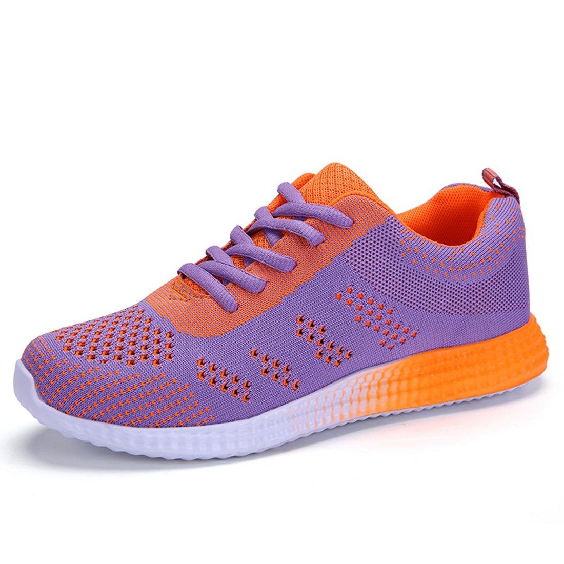 Women Aqua Water Shoes Quick Drying Lightweight Mesh Slip-on Athletic Sport Casual Sneakers Purple 245mm:8.5 B(M) US Women/6.5 D(M) US Men