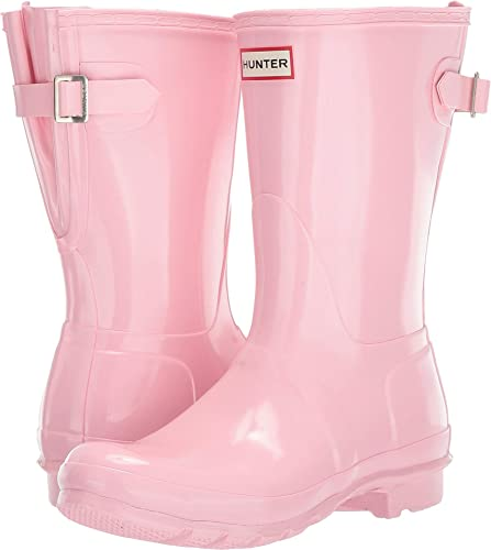 e8913bfd8a8 Hunter Women's Original Back Adjustable Short Gloss Rain Boots