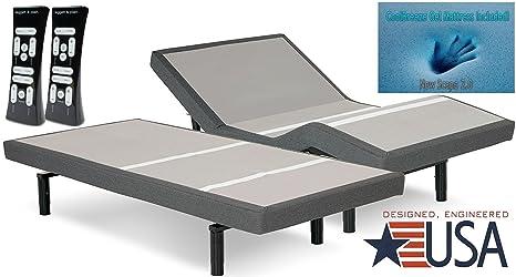 dynastymattress 14-inch CoolBreeze Gel colchón de espuma con efecto memoria con s-cape