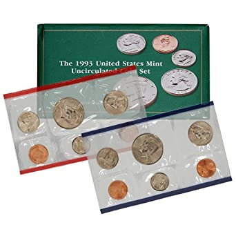 1993  United States Silver Proof Set 5 Five Coin Set Kennedy Half Dollar