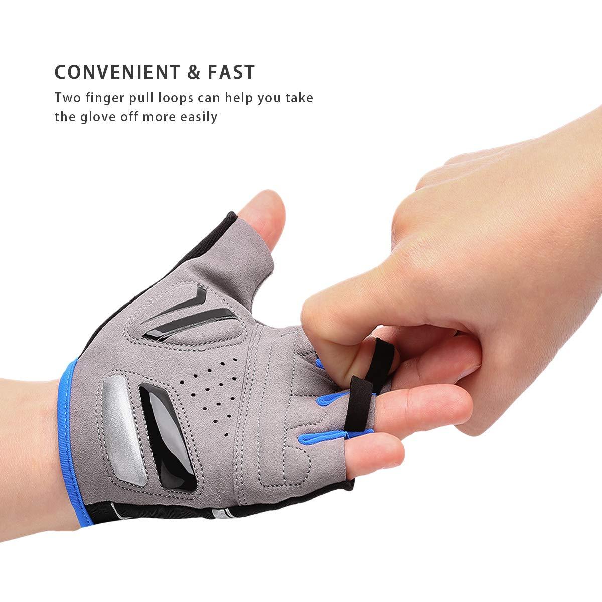 MTB Cycling Bike Silicone Gel Pad Gloves Shockproof Half Finger Short Proper HR
