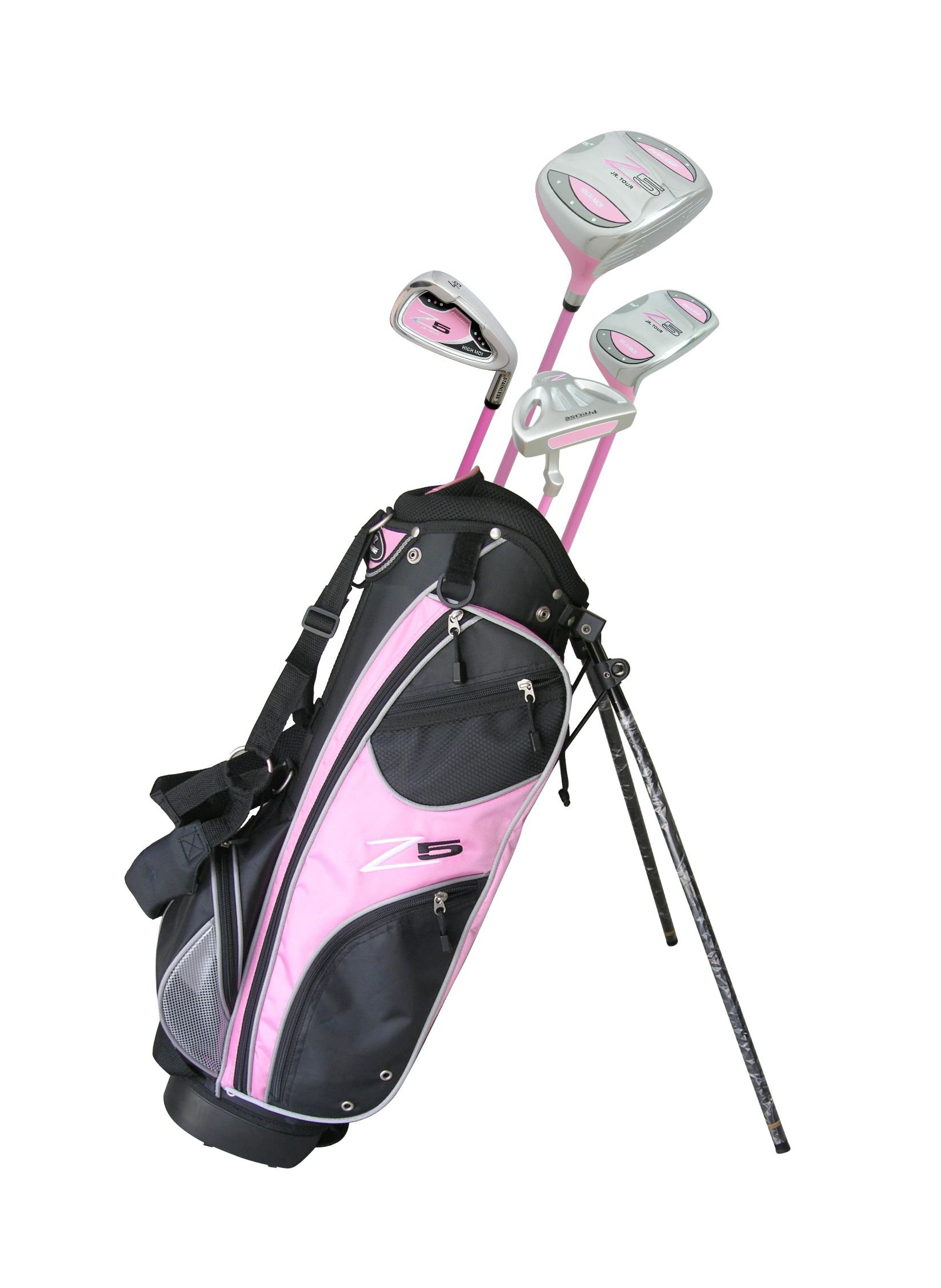 Top Performance Left Handed Junior Golf Club Set for Ages 3 to 5 Girls (Pink, Left Handed) - Height 3'8'' Inches to 4'4'' Inches