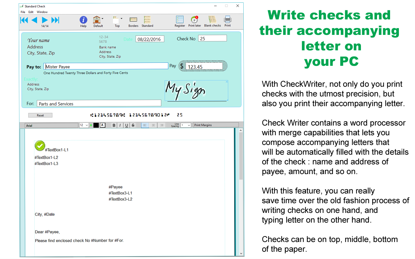 check writing software reviews Micr check printing & writing software for accounting and payroll to print your own checks accept checks by phone payment for same day deposit and no fees.