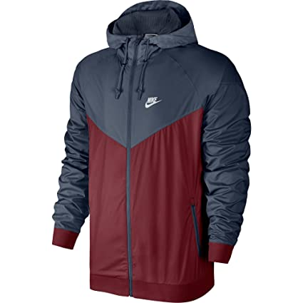 8ee21ecfa3 Buy Nike Mens Windrunner Hooded Track Jacket Team Red Thunder Blue White  727324-679 Size Small Online at Low Prices in India - Amazon.in
