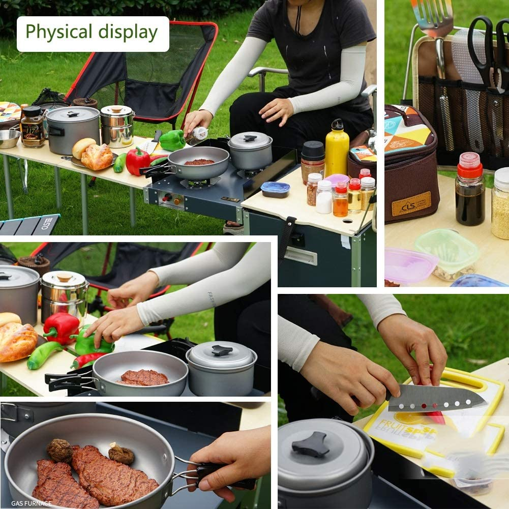 Stoge Travel Cocina de Camping Plegable Mesa de Cocina ...