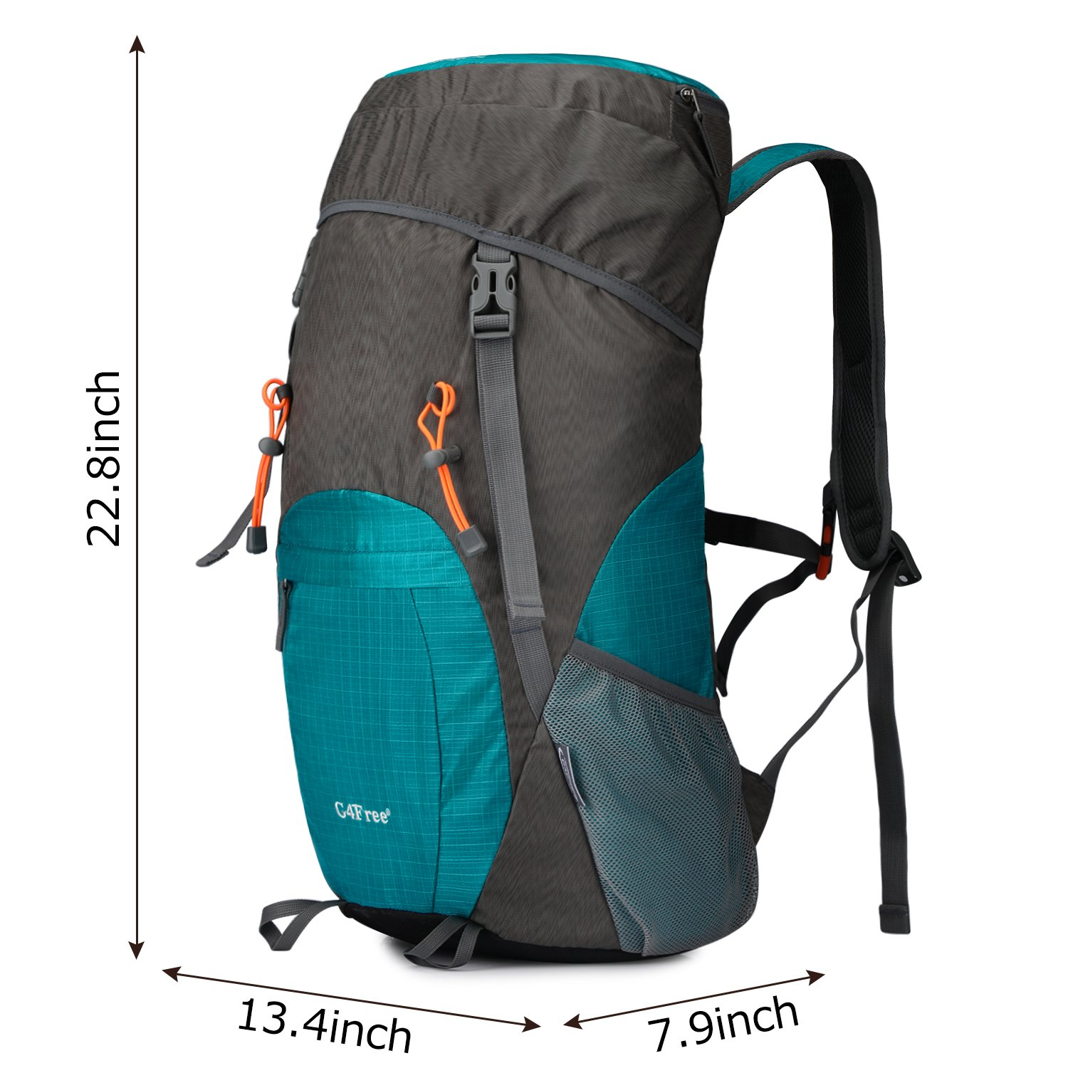 G4Free Lightweight Packable Water Resistant Large 40L Travel Hiking Backpack Daypack Foldable