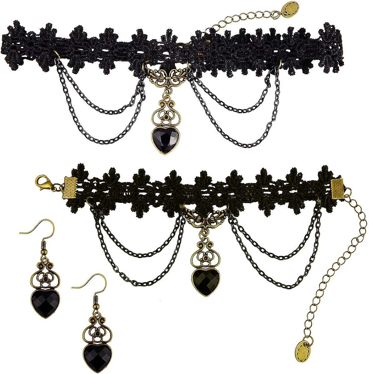 Vintage Crystal Rhinestone Chocker Necklace Party Club Punk Gothic Necklace New