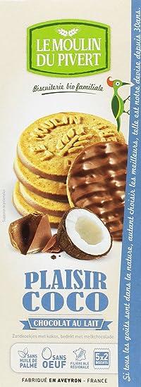 Le Moulin Du Pivert Galletas Placer de Chocolate con Leche y Coco - Paquete de 12