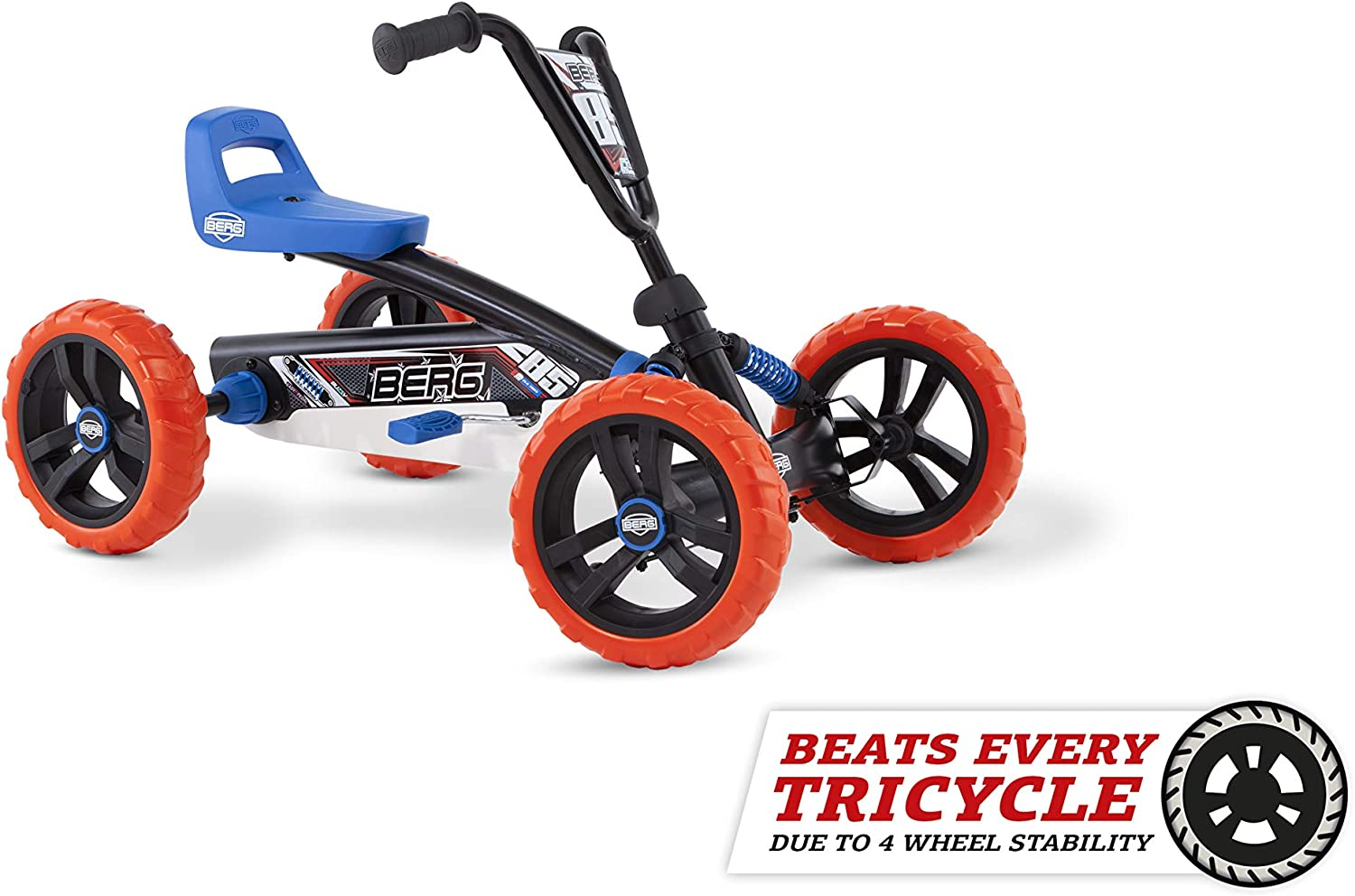 Berg Pedal Car Buzzy Nitro | Pedal Go Kart, Ride On Toys for Boys and Girls, Go Kart, Toddler Ride on Toys, Outdoor Toys, Beats Every Tricicle, Adaptable to Body Lenght, Go Cart for Ages 2-5 Years