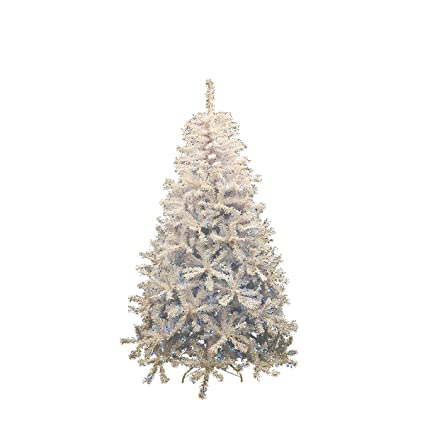 dak pre lit white cedar pine artificial christmas tree with blue lights 75