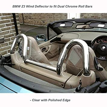 Wind Deflector Jrwdp001 Fits Dual Hoops Clear Perspex Amazon Co
