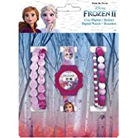 Disney Set Reloj Digital + Pulseras Frozen 2