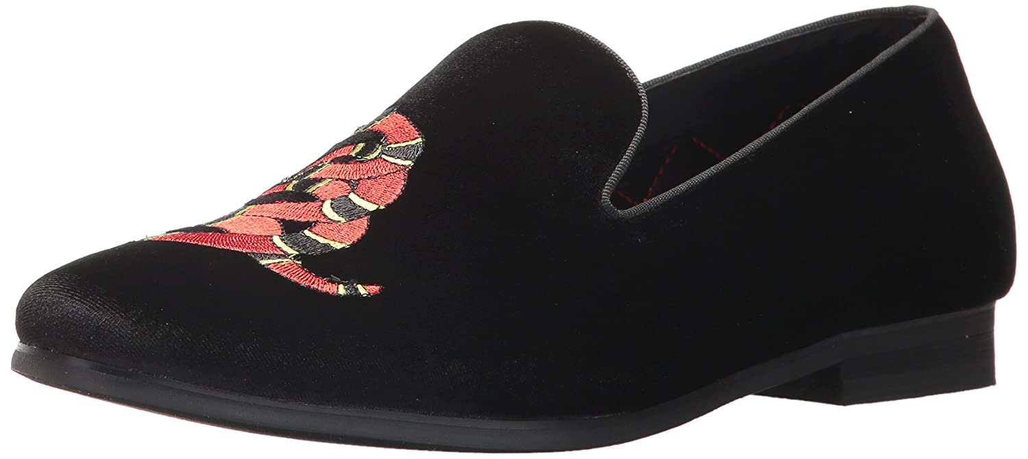 2c83335d2bc Amazon.com | Steve Madden Men's Coral Slip-On Loafer Black Velvet 7.5 US/US  Size Conversion M US | Loafers & Slip-Ons
