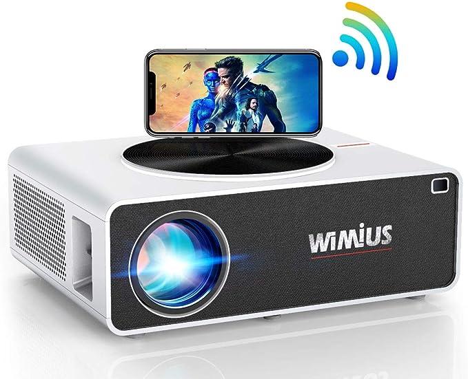 Proyector WiFi 1080P, WiMiUS 7200 Lúmenes Proyector WiFi Full HD 1920×1080P Soporta 4K Audio AC3 Proyector Cine En Casa LED 100,000 Horas para Teléfonos,iPad,Fire TV Stick,PS4,PC HDMI USB VGA AV: Amazon.es: Electrónica